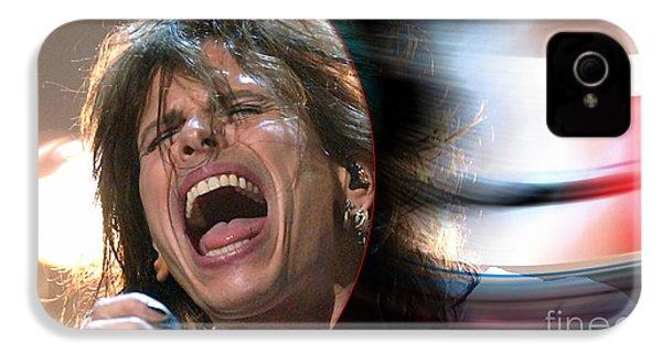 Rock N Roll Steven Tyler IPhone 4s Case by Marvin Blaine
