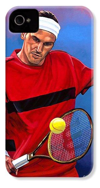 Roger Federer The Swiss Maestro IPhone 4s Case by Paul Meijering