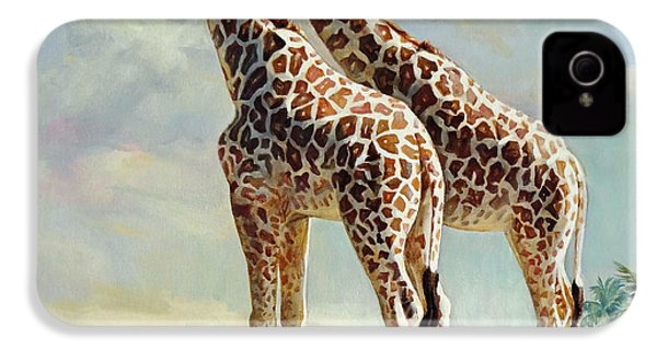 Romance In Africa - Love Among Giraffes IPhone 4s Case by Svitozar Nenyuk