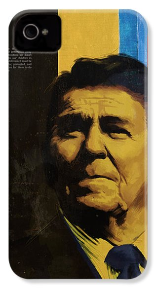 Ronald Reagan IPhone 4s Case by Corporate Art Task Force