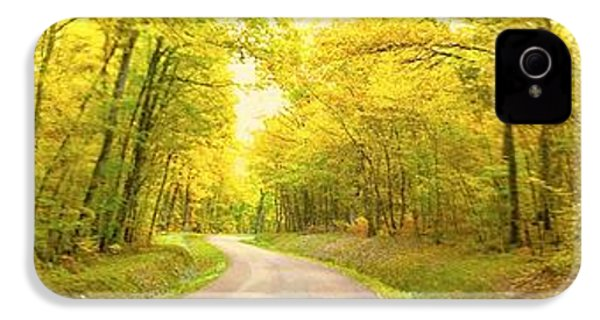 IPhone 4s Case featuring the photograph Route Dans La Foret Jaune by Marc Philippe Joly