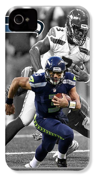 Russell Wilson Seahawks IPhone 4s Case by Joe Hamilton