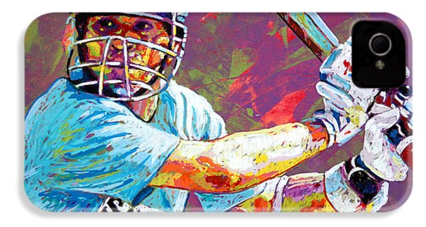Sachin Tendulkar IPhone 4s Case by Maria Arango
