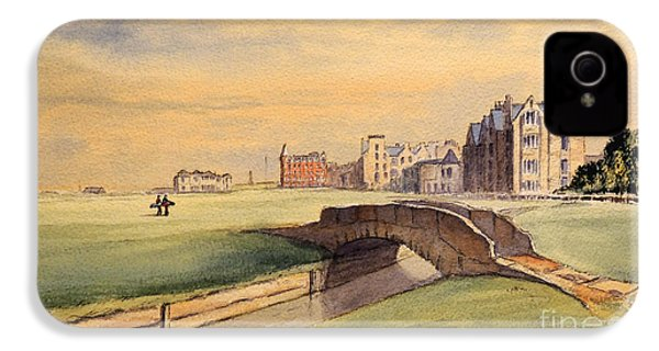 Saint Andrews Golf Course Scotland - 18th Hole IPhone 4s Case by Bill Holkham