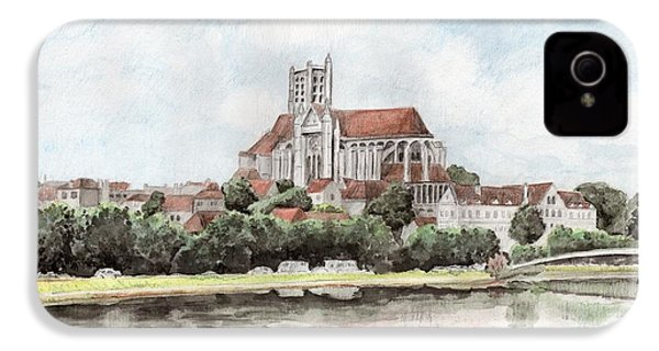 Saint-etienne A Auxerre IPhone 4s Case by Marc Philippe Joly