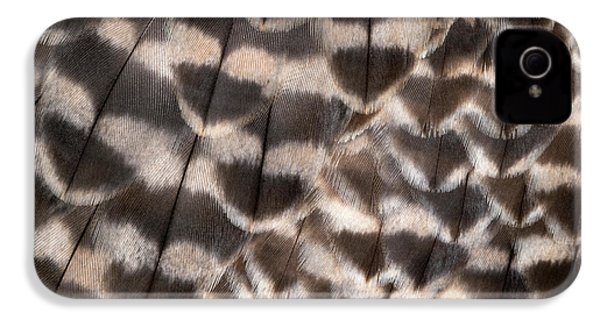 Saker Falcon Wing Feathers Abstract IPhone 4s Case by Nigel Downer