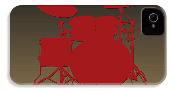 San Francisco 49ers Drum Set IPhone 4s Case by Joe Hamilton