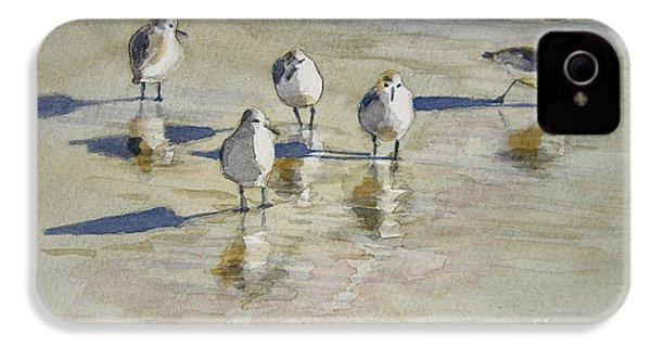 Sandpipers 2 Watercolor 5-13-12 Julianne Felton IPhone 4s Case