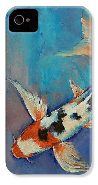 Sanke Butterfly Koi IPhone 4s Case by Michael Creese