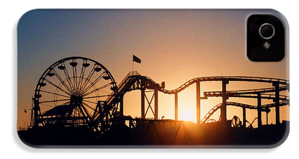 Santa Monica Pier IPhone 4s Case by Art Block Collections