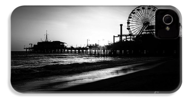 Santa Monica Pier In Black And White IPhone 4s Case by Paul Velgos