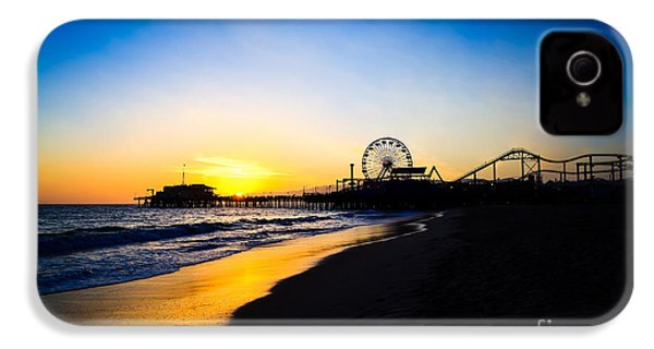 Santa Monica Pier Pacific Ocean Sunset IPhone 4s Case by Paul Velgos
