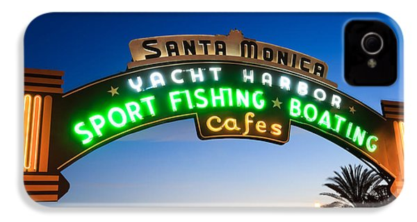 Santa Monica Pier Sign IPhone 4s Case by Paul Velgos