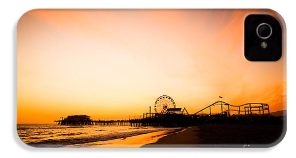 Santa Monica Pier Sunset Southern California IPhone 4s Case by Paul Velgos
