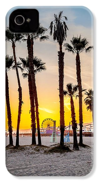 Santa Monica Sunset 2 IPhone 4s Case by Az Jackson
