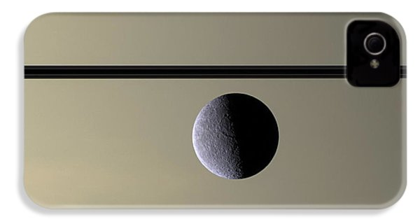 Saturn Rhea Contemporary Abstract IPhone 4s Case by Adam Romanowicz