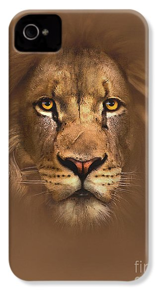 Scarface Lion IPhone 4s Case by Robert Foster