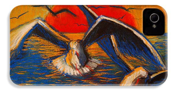 Seagulls At Sunset IPhone 4s Case by Mona Edulesco