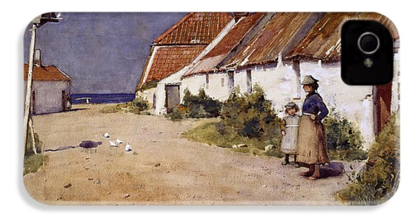 Seaside Cottages With Dovecot IPhone 4s Case by Edward Arthur Walton