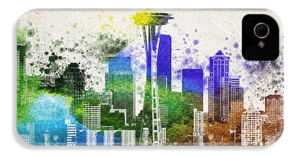 Seattle City Skyline IPhone 4s Case by Aged Pixel