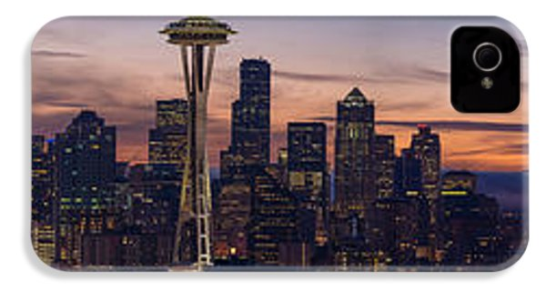 Seattle Cityscape Morning Light IPhone 4s Case by Mike Reid