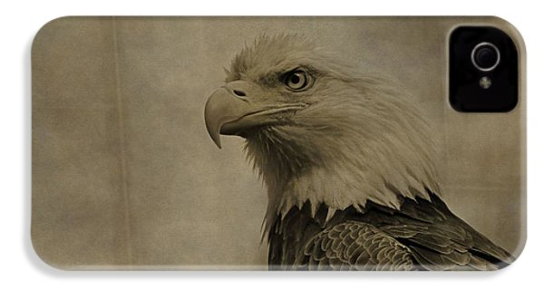 Sepia Bald Eagle Portrait IPhone 4s Case by Dan Sproul