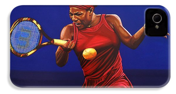 Serena Williams Painting IPhone 4s Case by Paul Meijering