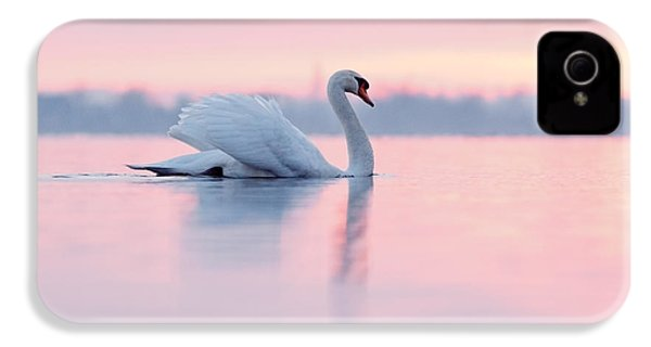 Serenity   Mute Swan At Sunset IPhone 4s Case by Roeselien Raimond