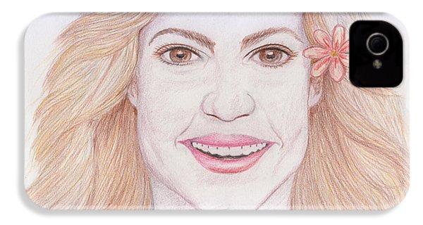 Shakira IPhone 4s Case by M Valeriano