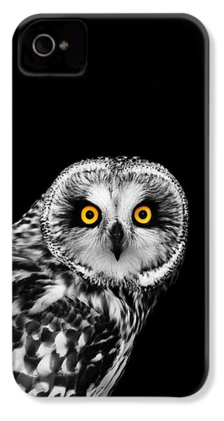 Short-eared Owl IPhone 4s Case by Mark Rogan
