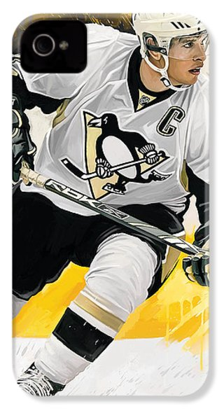 Sidney Crosby Artwork IPhone 4s Case by Sheraz A