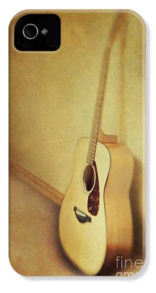 Silent Guitar IPhone 4s Case by Priska Wettstein