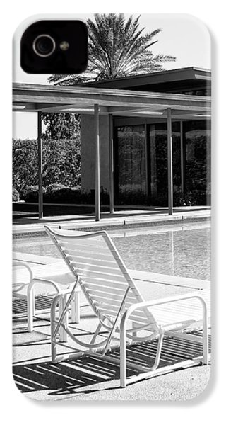 Sinatra Pool Bw Palm Springs IPhone 4s Case by William Dey