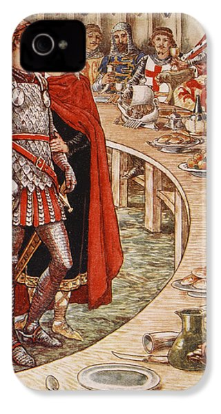 Sir Galahad Is Brought To The Court Of King Arthur IPhone 4s Case by Walter Crane