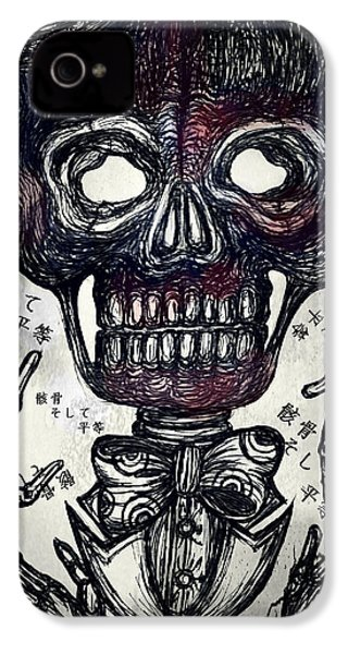 Skull And Equality IPhone 4s Case by Akiko Okabe