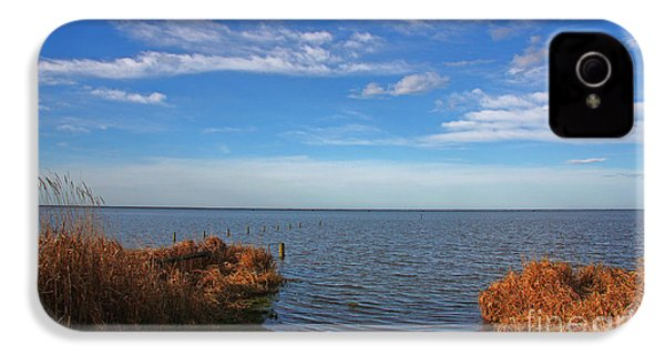 IPhone 4s Case featuring the photograph Sky Water And Grasses by Nareeta Martin