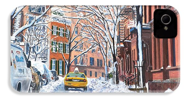 Snow West Village New York City IPhone 4s Case by Anthony Butera