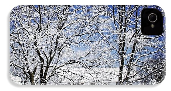 #snow #winter #house #home #trees #tree IPhone 4s Case by Jill Battaglia