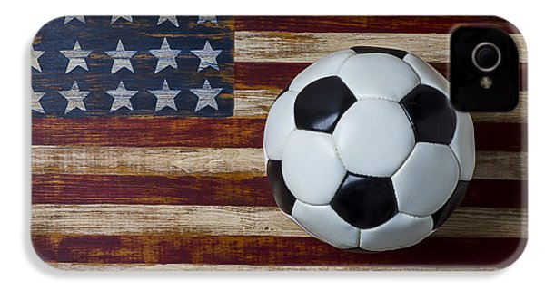Soccer Ball And Stars And Stripes IPhone 4s Case