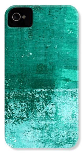 Soothing Sea - Abstract Painting IPhone 4s Case by Linda Woods