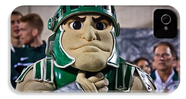 Sparty And Izzo National Anthem  IPhone 4s Case by John McGraw