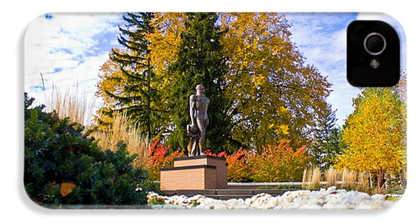 Sparty In Autumn  IPhone 4s Case by John McGraw