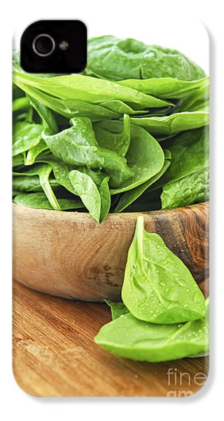 Spinach IPhone 4s Case by Elena Elisseeva