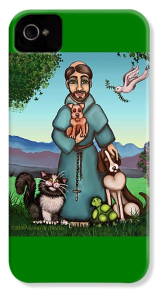 St. Francis Libertys Blessing IPhone 4s Case by Victoria De Almeida