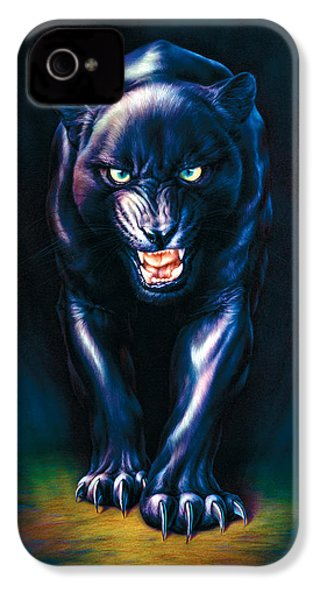 Stalking Panther IPhone 4s Case by Andrew Farley