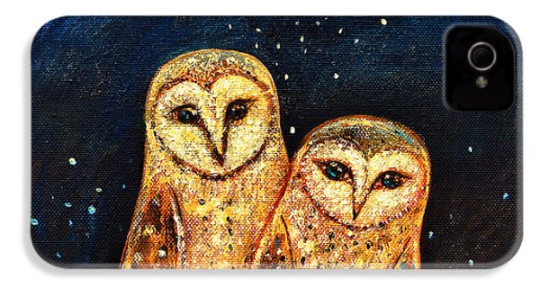 Starlight Owls IPhone 4s Case by Shijun Munns