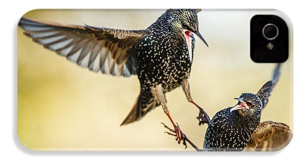 Starling Aerial Battle IPhone 4s Case by Izzy Standbridge