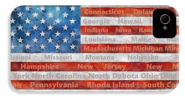 Stars And Stripes With States IPhone 4s Case