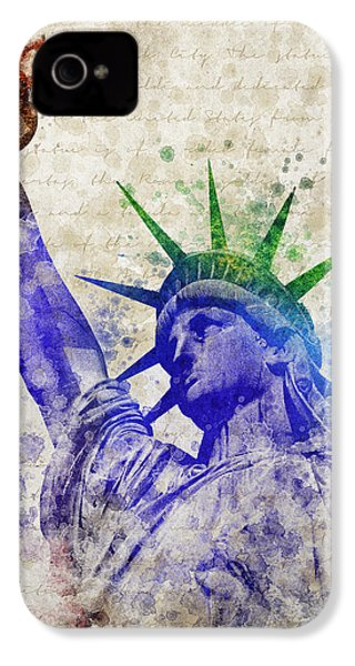 Statue Of Liberty IPhone 4s Case by Aged Pixel
