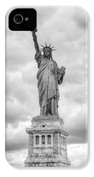 IPhone 4s Case featuring the photograph Statue Of Liberty Full by Dave Beckerman